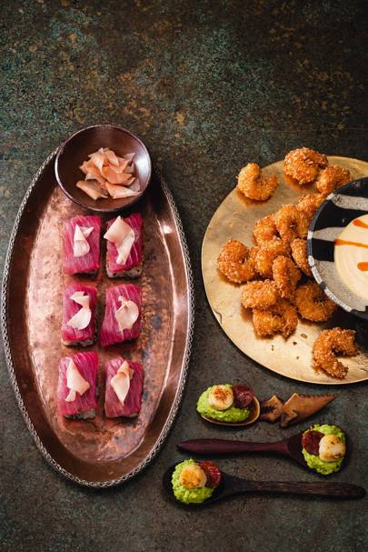 3 Seafood Canapes Prawns Tuna Scallops Recipes House Garden
