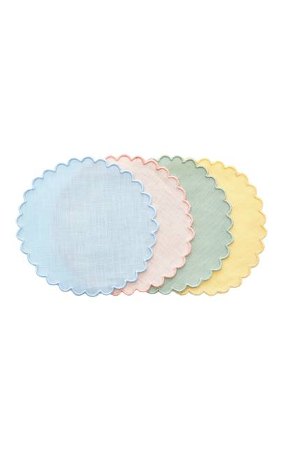 Los Encajeros exclusive set of four linen coasters, £126