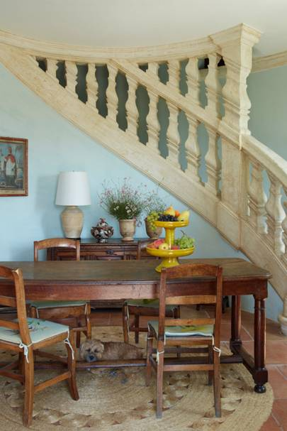 Pastel Blue Staircase