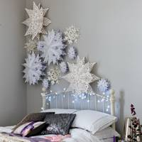 Snowflakes in Christmas Bedroom