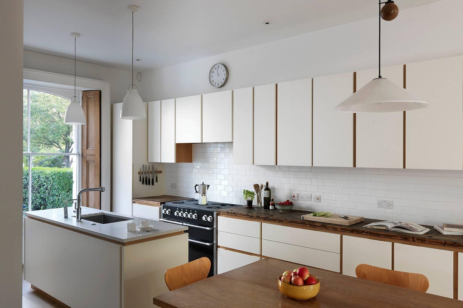 Modern White Narrow Kitchen - Kitchen Design Ideas   House & Garden