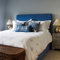 Blue and White Fresh Bedroom