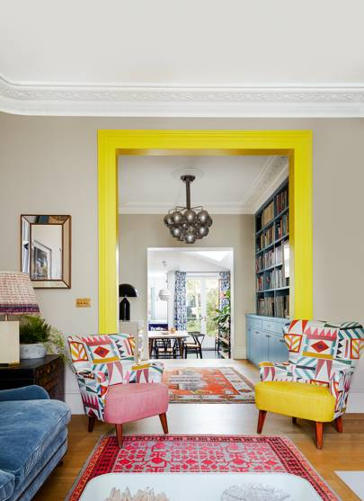 Suzy Hoodless Loves Colour And Has Employed It To Great Effect In Her Own Living  Room. A Neutral Backdrop Allows The Bold Yellow Detail And Pink Rug To Live  ...