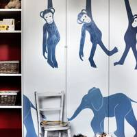 Bespoke Jungle Mural Wardrobe