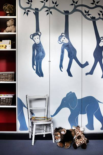 Custom-designed kids' room mural