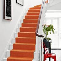 Retro Orange Stair Runner Carpet