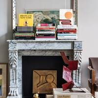 Living Room Fireplace - French Art Deco Pimlico Flat