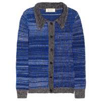 Blue Wool Cardigan