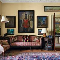 Regency Sofa & Gallery Wall