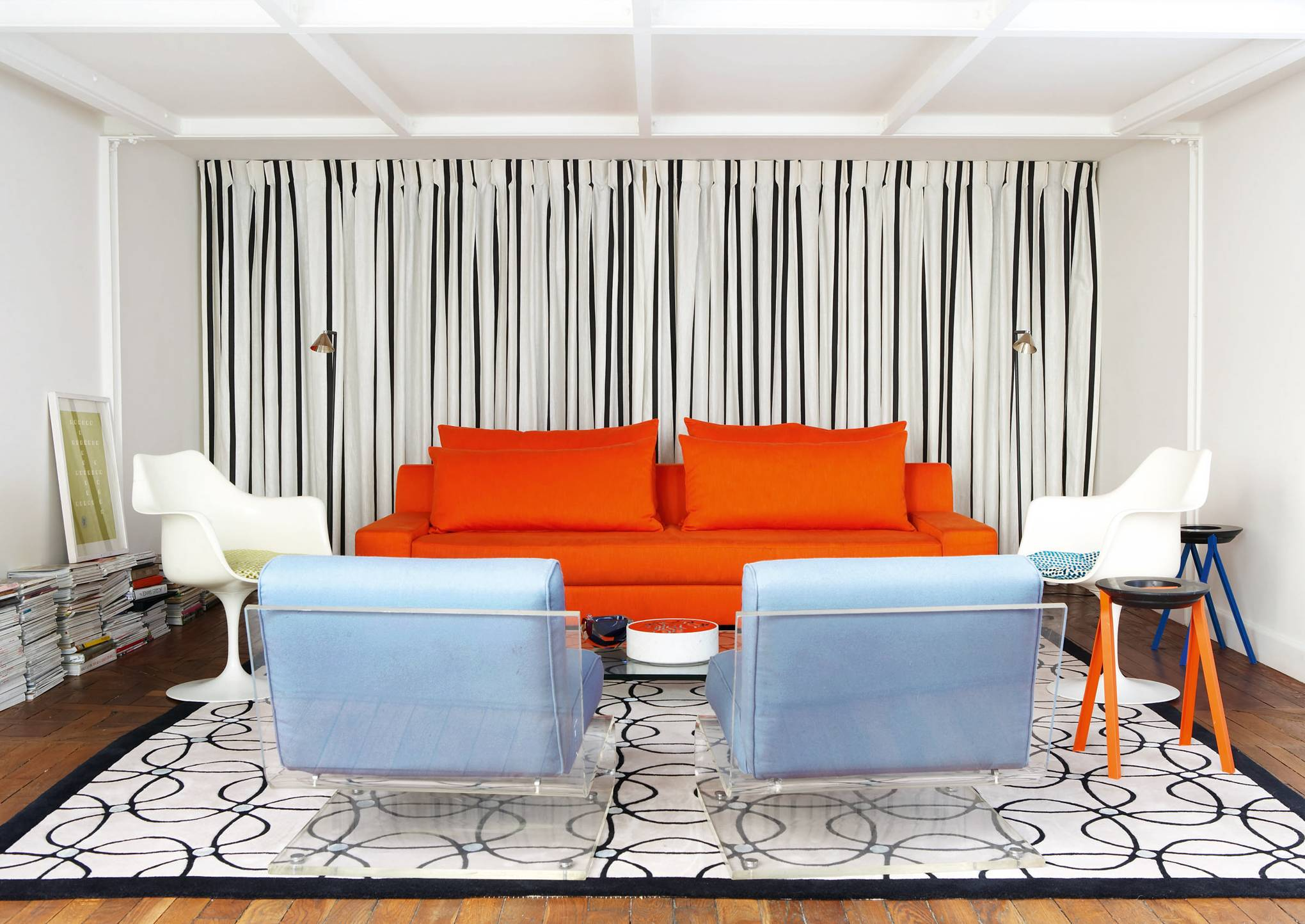Vincent Frey has transformed the former Pierre Frey archive into a stylishly modern apartment