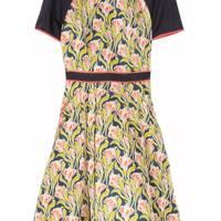 Printed Structured-Silk Dress
