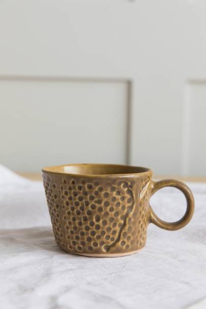 4. Textured Mug - Mustard