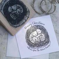 Christmas Card Stamp from The English Stamp Company