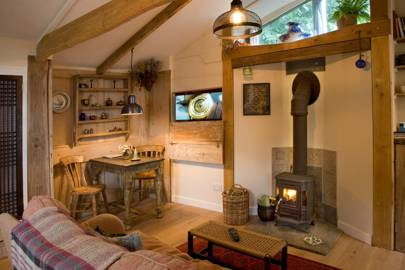 Straw Bale Lodge Interior
