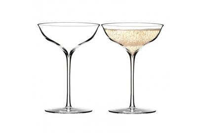 Coupe or martini glasses
