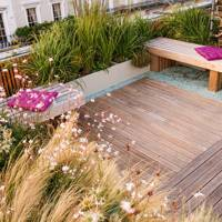 Roof Garden With Border Planters