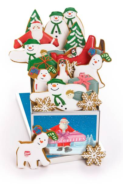 Biscuiteers The Snowman and Snowdog biscuit tin