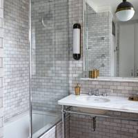 White Small Tile Bathroom