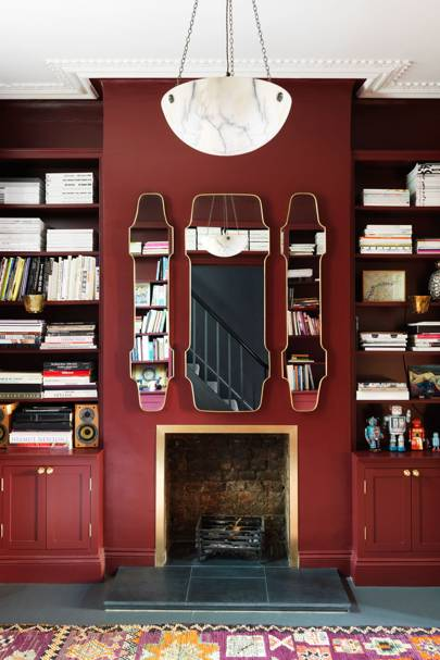 Oxblood Red Living Room