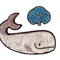 Hand-embroidered Cannetille Moby Dick Brooch