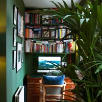 Study nook with book shelves