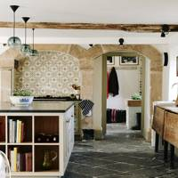 Country Kitchen with Tiled Alcove