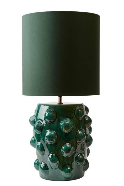 Green Earthenware Table Lamp