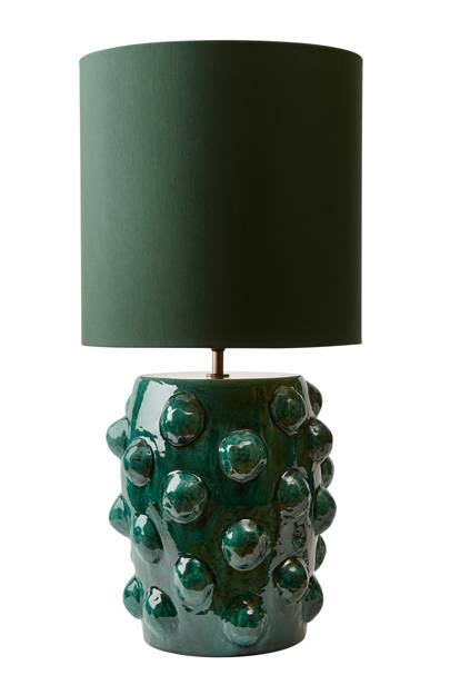 Green Earthenware Table Lamp