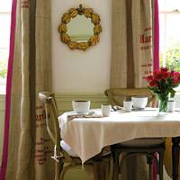 Sew Potato Sacks Into Curtains
