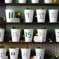 Paper Cup Advent Calendar