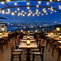 Rooftop Dining Lights