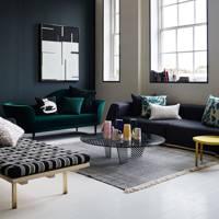 Dark Green Modern Living Room