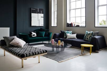 Dark Green Modern Living Room
