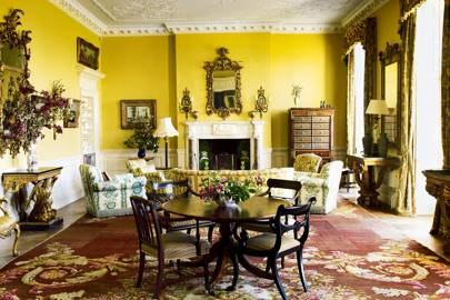 Yellow Country House Living Room