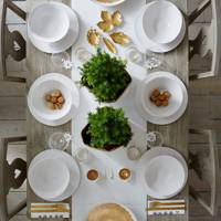 White & Gold Tableware