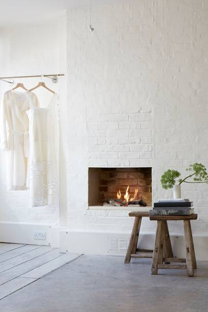 White Wall Fireplace