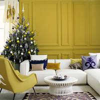 Matching Colours in Christmas Living Room