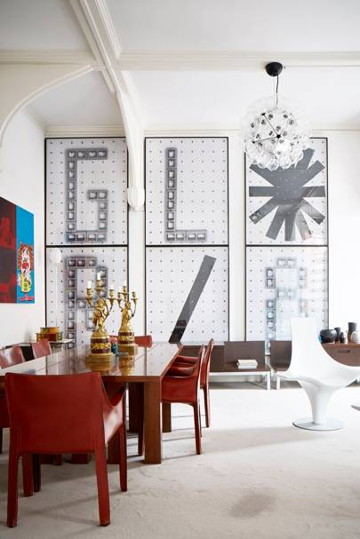 Dining Room - An Art Collector's Bold House | Real Homes