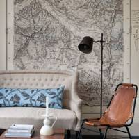 Giant vintage map