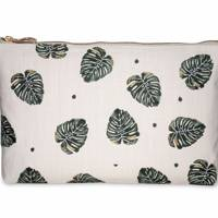 July 17: Elizabeth Scarlett Jungle Leaf Natural Pouch, £20
