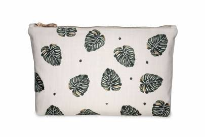 July 17: Elizabeth Scarlett Jungle Leaf Natural Pouch, £20