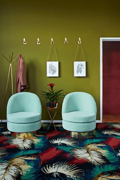 Living Room Colours - green