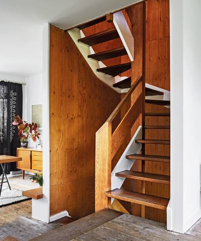 The staircase of Charlene Mullen's London home