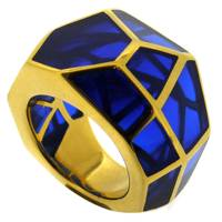 Dark Blue Multifacet Ring