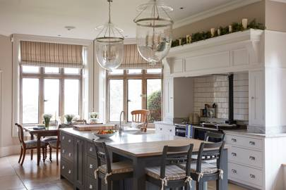 Grey Painted Kitchen Island