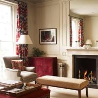 Cosy Red & Cream Living Room