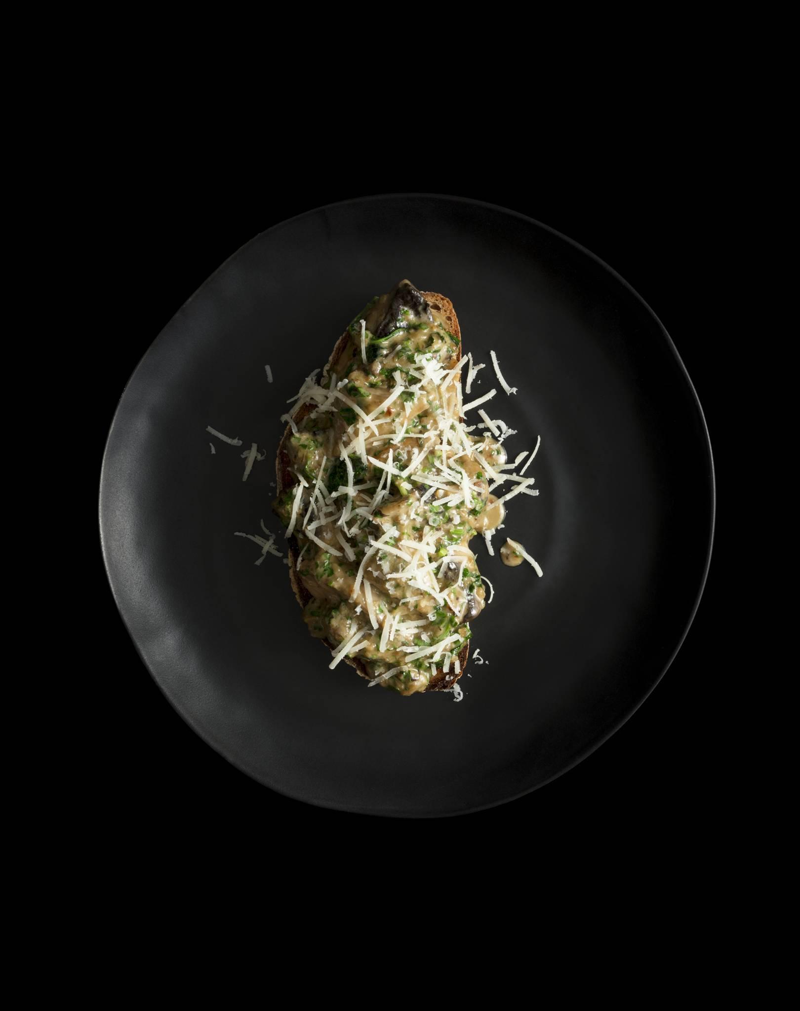 Tom Kerridge's St George's mushrooms, garlic and parsley on sourdough toast