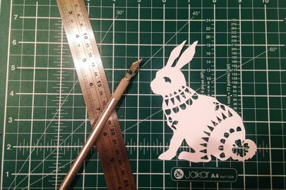 Paper cutting with Tea & Crafting