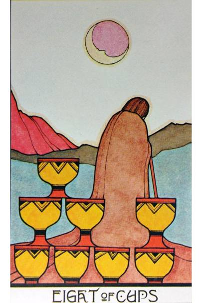 Eight of Cups from The Aquarian Tarot
