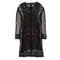 Embroidered Cotton Mesh Dress